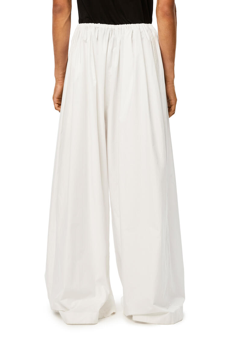 LOEWE Oversize drawstring trousers in cotton White pdp_rd