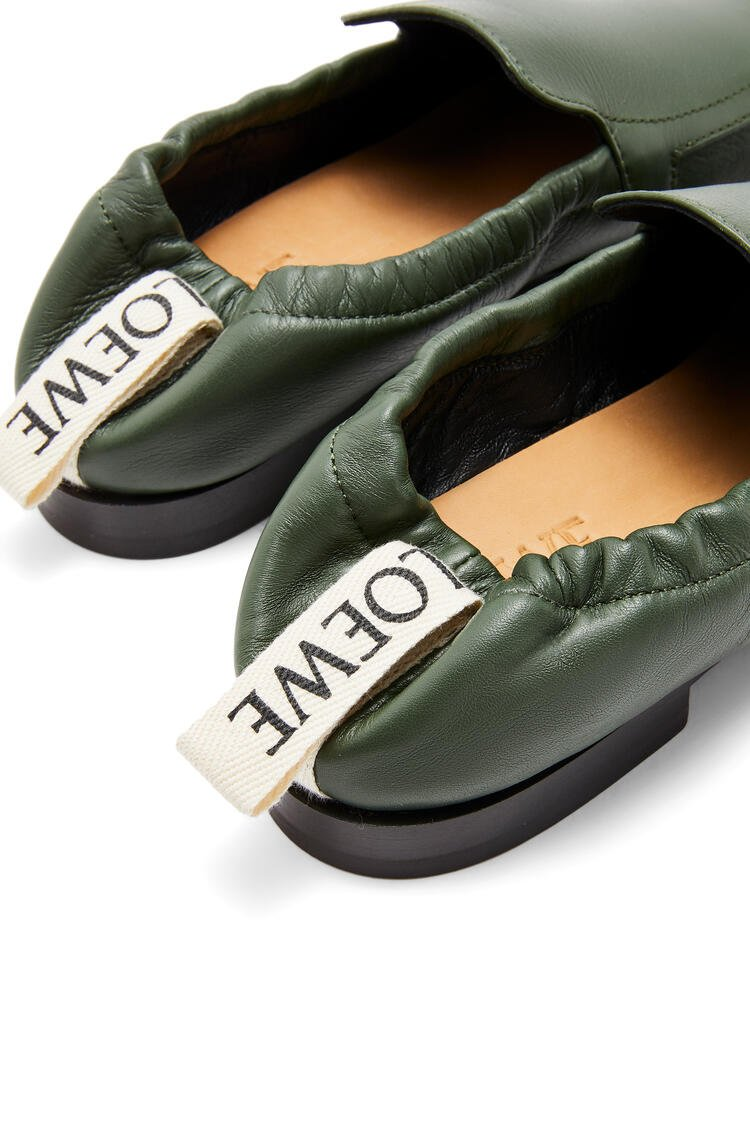 LOEWE Elasticated loafer in calf Forest Green pdp_rd