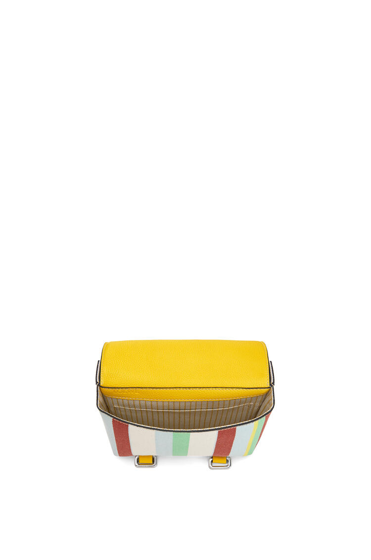 LOEWE Military bumbag in calfskin and printed canvas Yellow/Multicolour pdp_rd