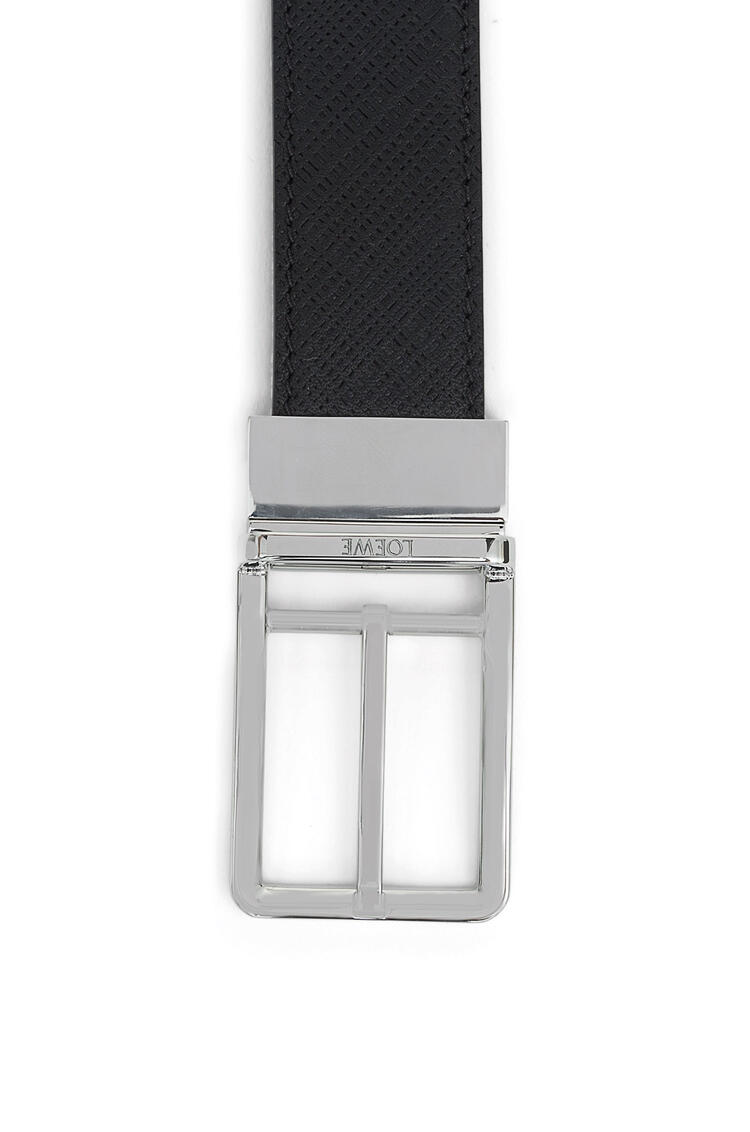LOEWE Formal Belt In Textured Calfskin Black/Palladium pdp_rd