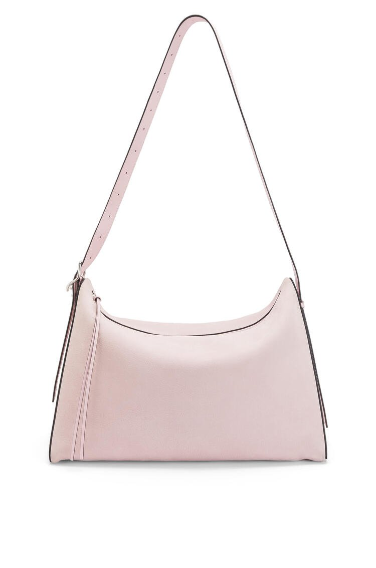 LOEWE Large Berlingo bag in nubuck and calfskin Icy Pink pdp_rd