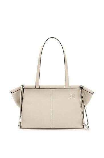 LOEWE Small Cushion Tote bag in soft grained calfskin Light Oat pdp_rd