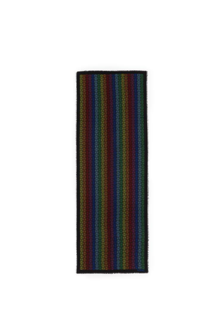 LOEWE Pañuelo Anagrama de 70 x 200 cm en lana y cashmere Negro/Multicolor pdp_rd