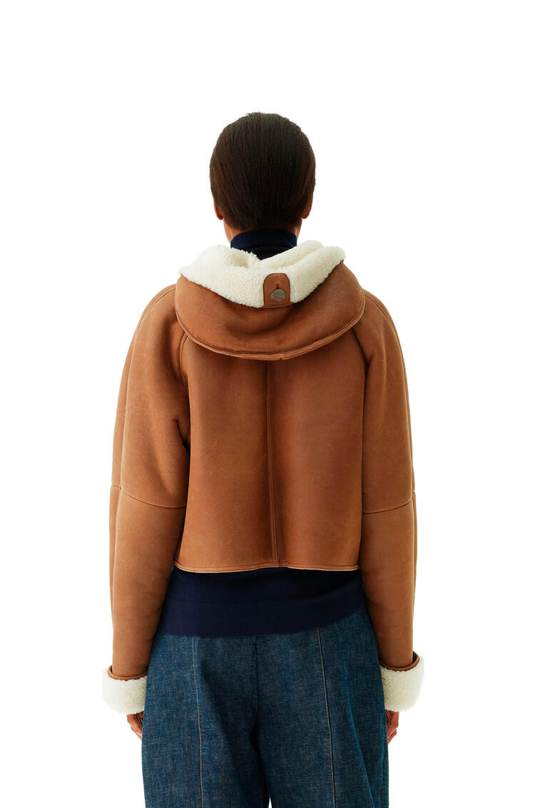LOEWE Shearling jacket in novack Dark Brown pdp_rd