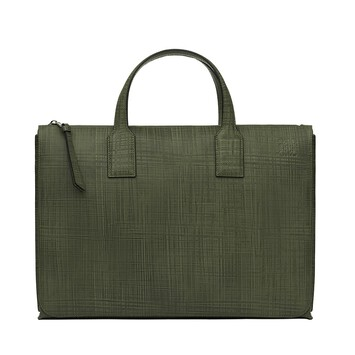 LOEWE Goya Simple Briefcase Khaki Green front