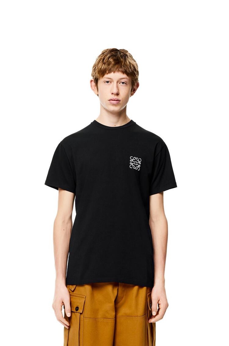 LOEWE Anagram t-shirt in cotton Black pdp_rd