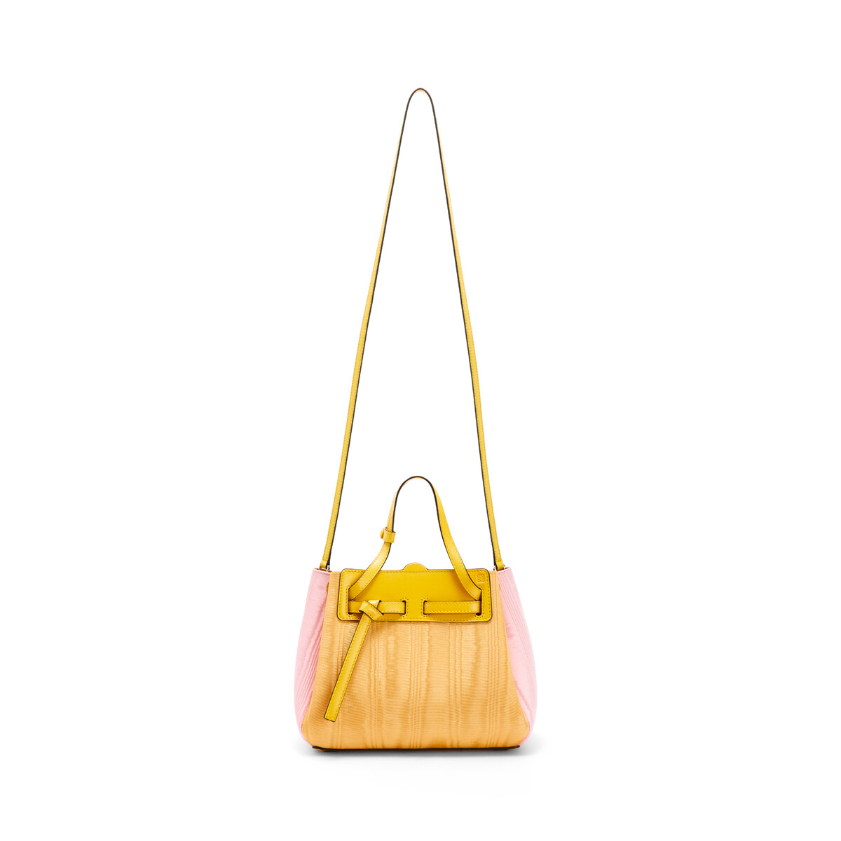 LOEWE ラソ ミニ バッグ Yellow/Pink front