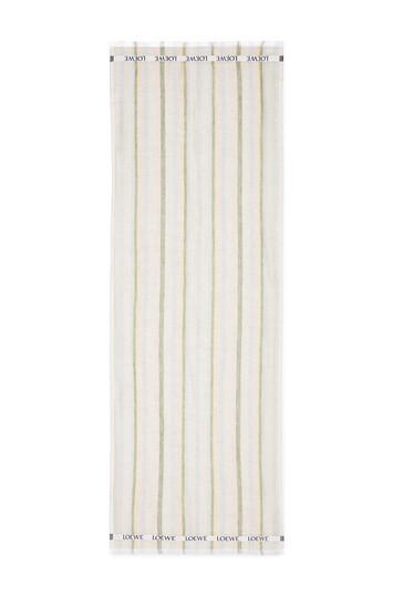 LOEWE 70X210 Scarf Loewe Stripes Multicolor/Soft Pink front