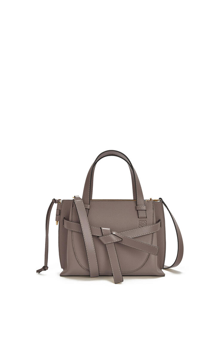 LOEWE Mini Gate Top Handle bag in soft grained calfskin Dark Taupe pdp_rd