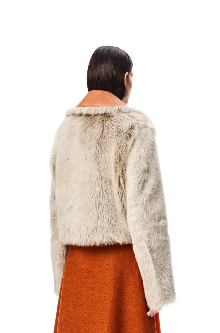 LOEWE Chaqueta cropped en lana de oveja Gris/Topo pdp_rd