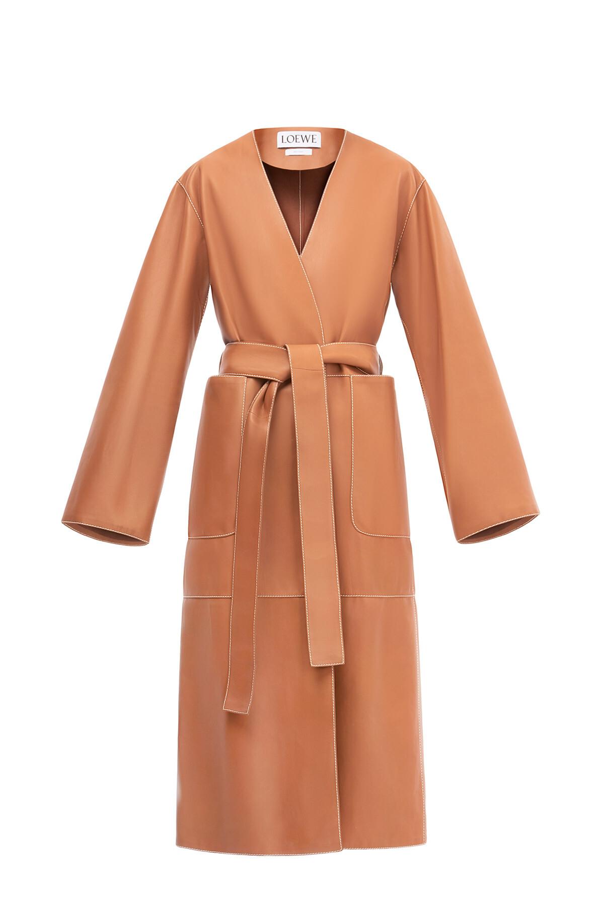 LOEWE Coat Tan front