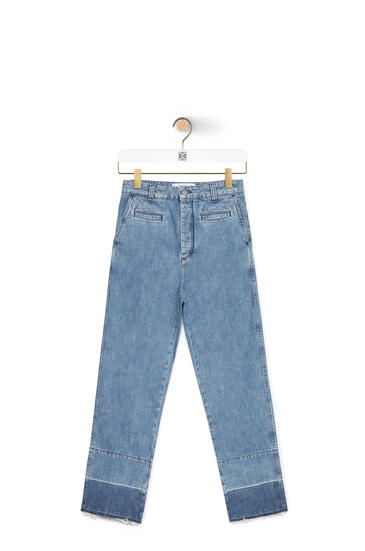 LOEWE Fisherman jeans in cotton 蓝色 pdp_rd