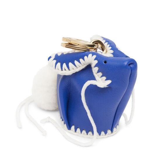 LOEWE Bunny Macrame Charm Electric Blue/White all