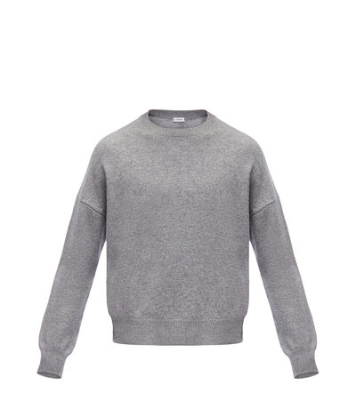 LOEWE Cropped Sweater 灰色 front