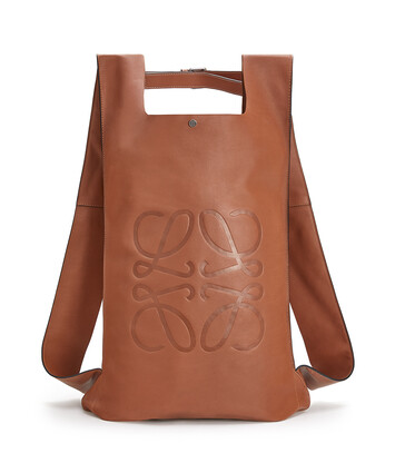 LOEWE Shopper Backpack Tan front
