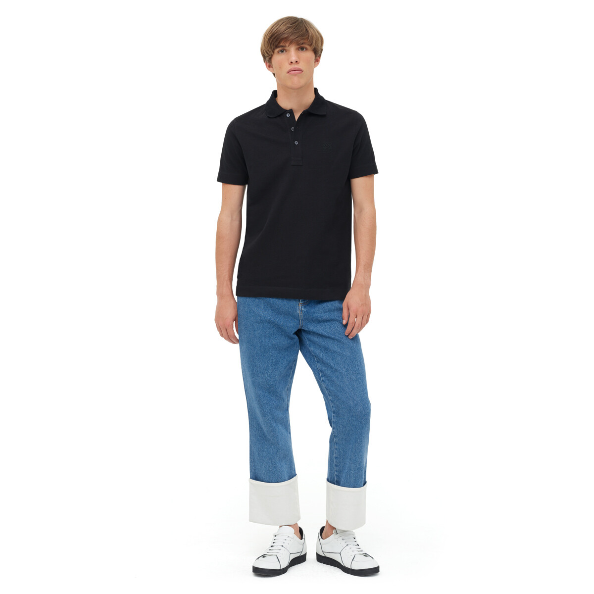 LOEWE Anagram Polo Black front