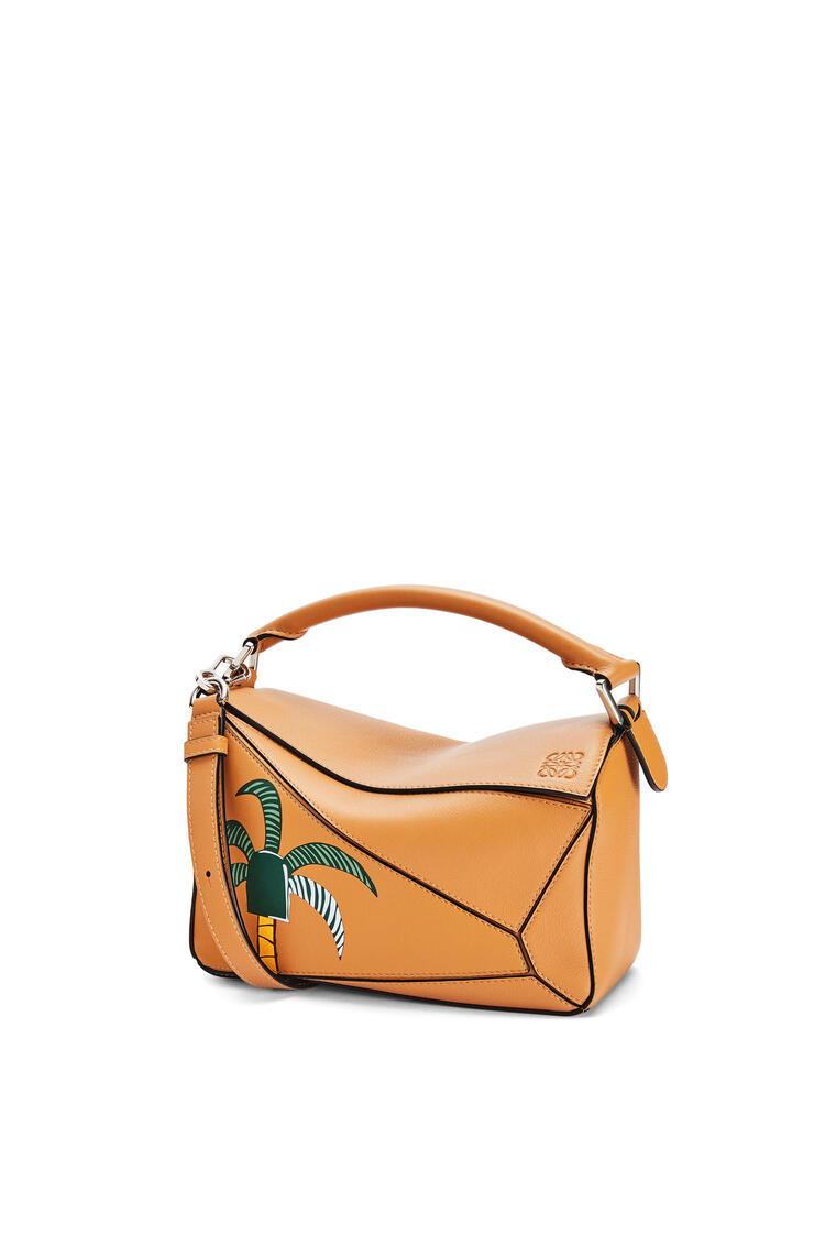 LOEWE Small La Palme Puzzle bag in classic calfskin Amber pdp_rd