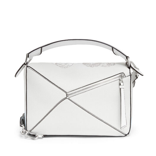 LOEWE Bolso Puzzle Faces Blanco Suave all