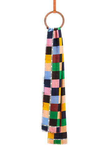 LOEWE 70X200 Scarf Patchwork Print Multicolor front