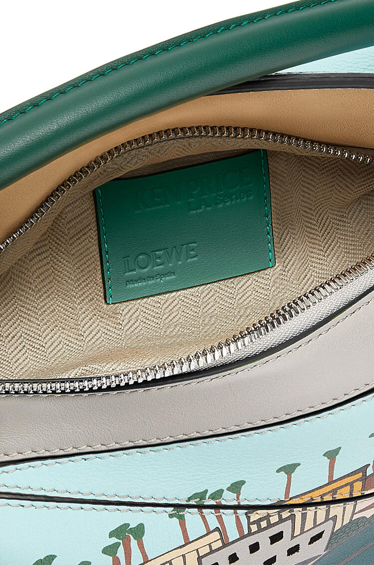 LOEWE Small L.A. Series Puzzle bag in classic calfskin Dark Forest/Multicolor pdp_rd