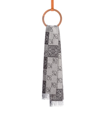 LOEWE 38X180 Scarf Anagram In Lines Black/White front