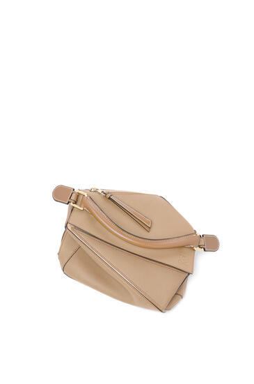 LOEWE 小号柔软粒面小牛皮 Puzzle 手袋 Sand/Mink Color pdp_rd