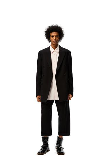 LOEWE Cropped flare trousers in wool Black pdp_rd