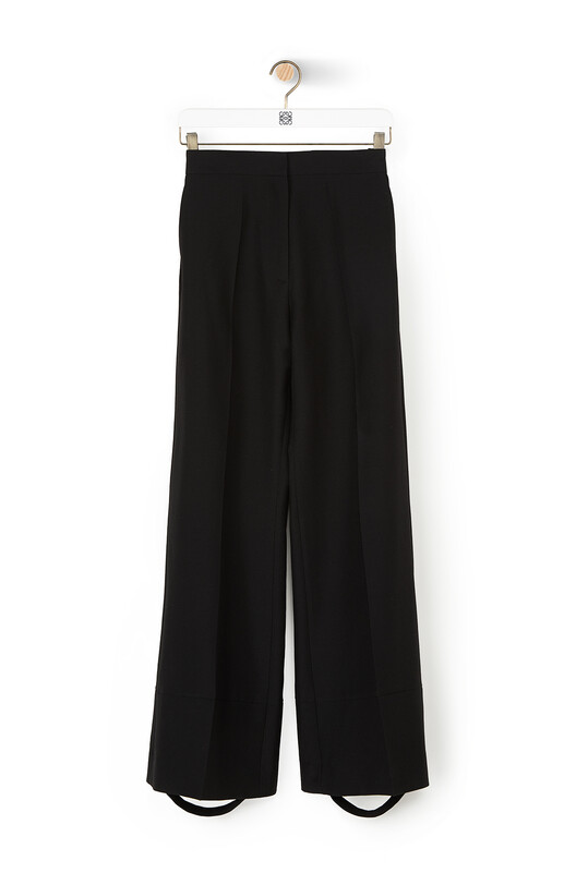 LOEWE Flare Trousers 黑色 front