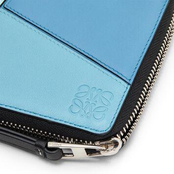 LOEWE パズルスクエアジップウォレット blue multitone front