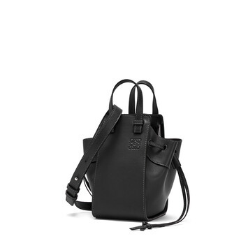 LOEWE Hammock Drawstring Mini Bag Black front