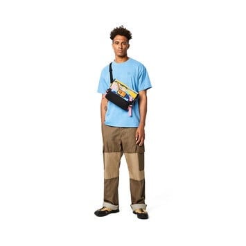 LOEWE Eye/Loewe/Nature Messenger Camouflage Small Bag Multicolor front
