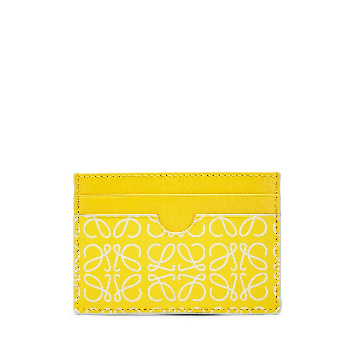 LOEWE Plain Card Holder Yellow/White front