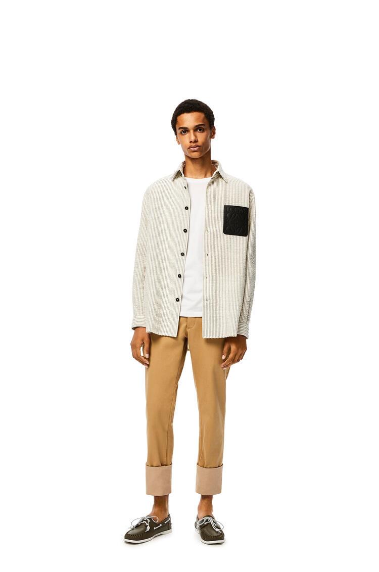 LOEWE Overshirt In Cotton White/Brown pdp_rd