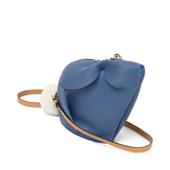LOEWE Bunny Mini Bag Varsity Blue/Pecan Color front