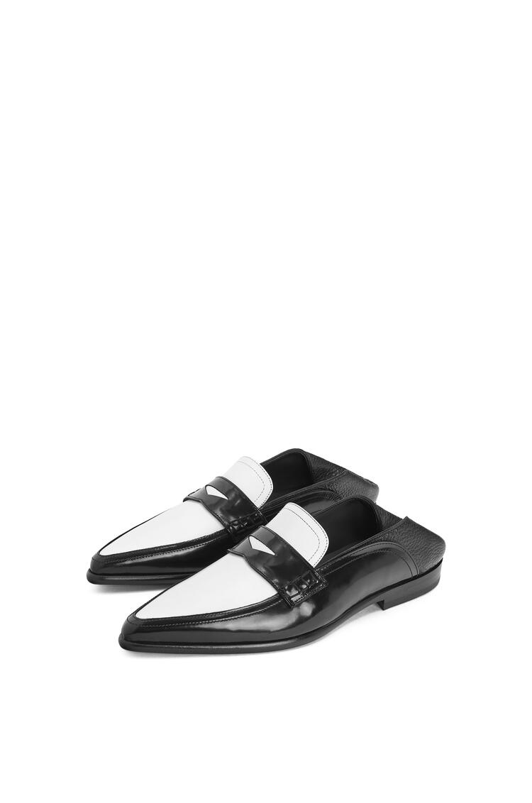 LOEWE Pointy slip on loafer in calfskin 黑色/白色 pdp_rd