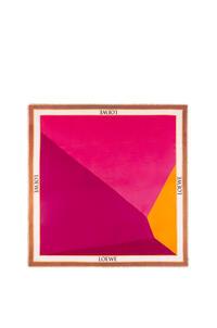 LOEWE Pañuelo puzzle en modal y cachemira Fucsia/Magenta pdp_rd