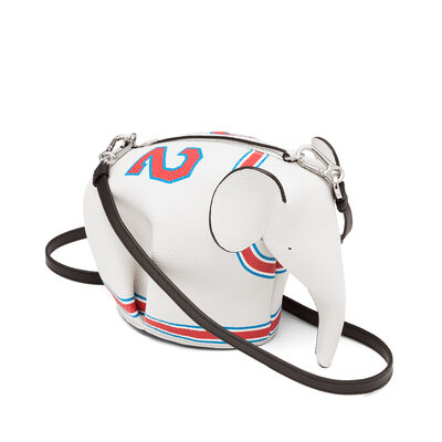 LOEWE Elephant Loewe 22 Mini Bag Soft White/Red front