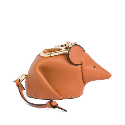 LOEWE Mouse Charm Tan front