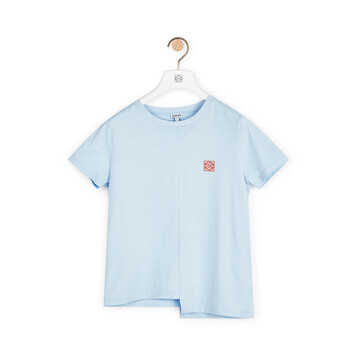 LOEWE Asymmetric Anagram T-Shirt Light Blue front