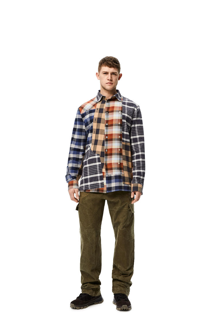 LOEWE Check patchwork shirt in cotton Multicolor pdp_rd