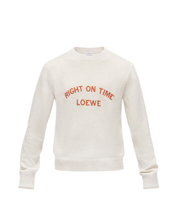 LOEWE Sweater Right On Time 浅灰色 front