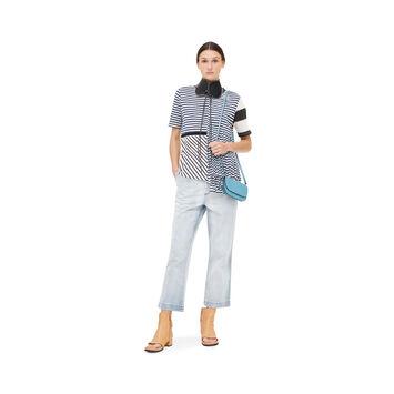 LOEWE Asymmetric Stripe T-Shirt Marino/Blanco front