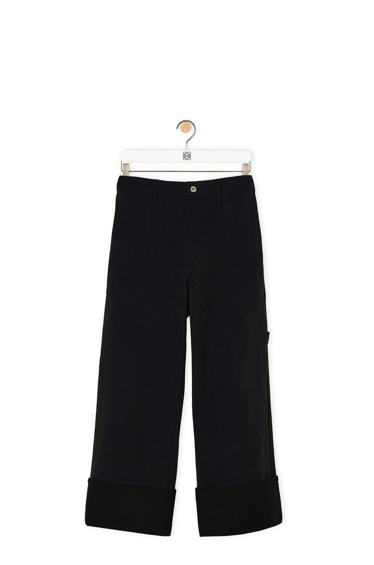 LOEWE Turn up patch pocket trousers in cotton 海軍藍 pdp_rd
