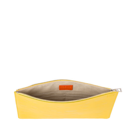 LOEWE Medium Flat Pouch Cheese Yellow/Palladium all