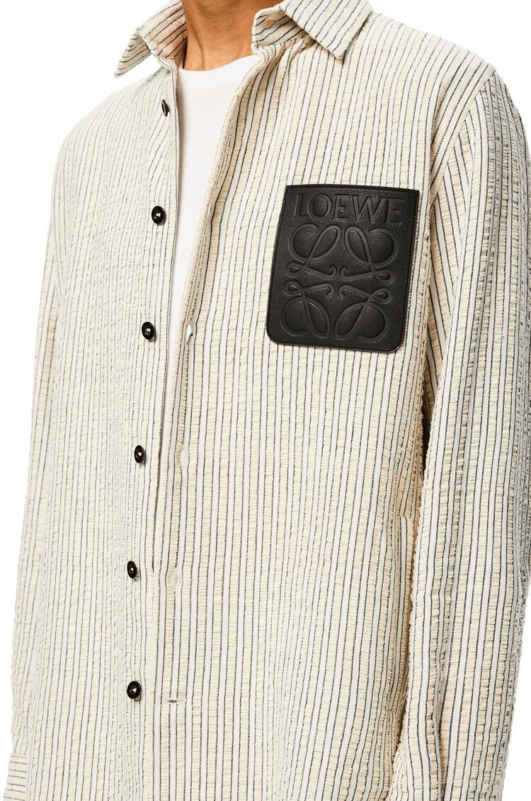 LOEWE 棉质外套衬衫 白色/棕色 pdp_rd