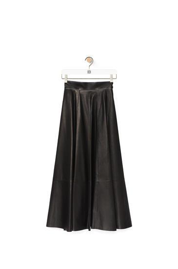 LOEWE Skater skirt in nappa Black pdp_rd