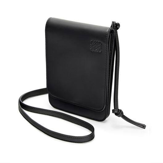 LOEWE Gusset Flat Crossbody Bag Black front
