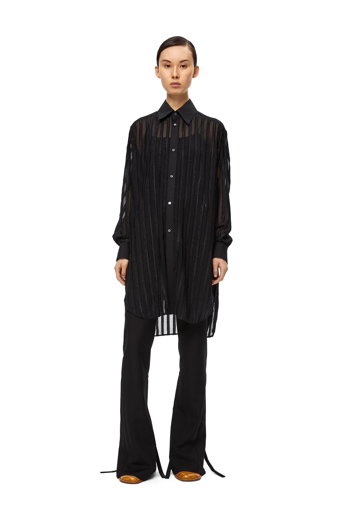 LOEWE Fil Coupe Oversize Shirt Black front