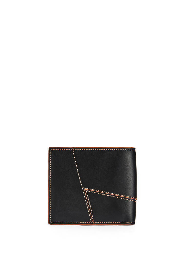 LOEWE Puzzle stitches bifold wallet in smooth calfskin Black pdp_rd
