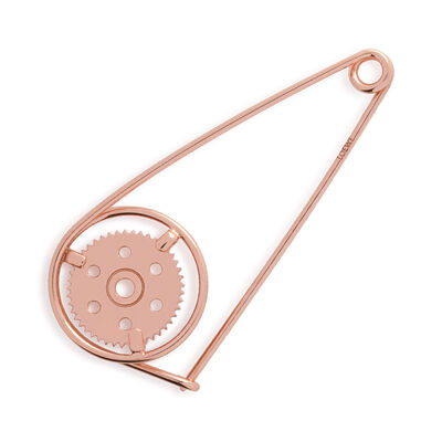 LOEWE Small Meccano Pin rose gold front